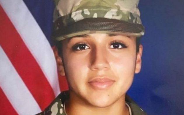 Vanessa Guillen tiene el rango de soldado de primera clase de las fuerzas armadas de EE.UU. en Texas.