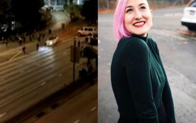 Summer Taylor fue embestida en una autopista por un conductor que esquivó los controles.