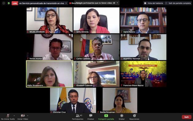 Comisión recibió al titular del Consejo de Participación Ciudadana y Control Social, Christian Cruz y a los vocales del organismo.