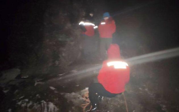 En el operativo participó la Unidad de Rescate en Alta Montaña del Cuerpo de Bomberos de Quito.