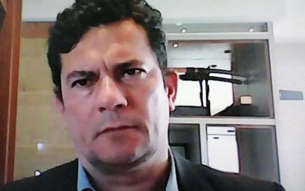 Ex ministro de Justicia y Seguridad Pública de Brasil, Sergio Moro. Foto: EFE.