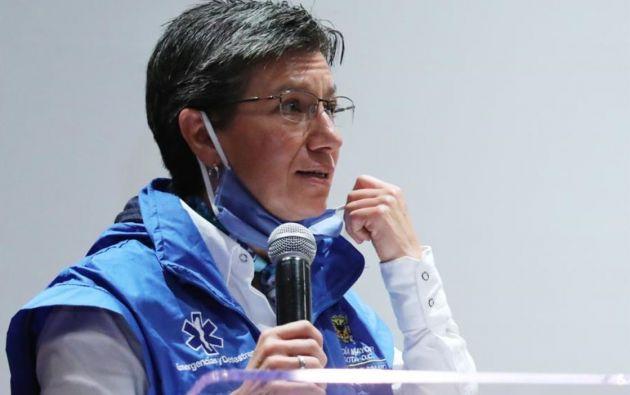 La alcaldesa de Bogotá, Claudia López. Foto:Reuters.