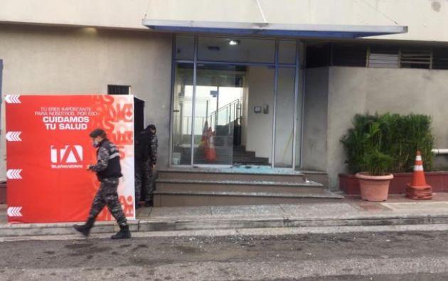 La ministra de Gobierno, María Paula Romo, informó sobre la captura de los involucrados.
