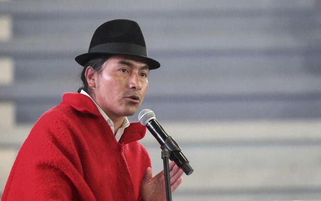 Leonidas Iza es presidente del Movimiento Indígena y Campesino de Cotopaxi desde 2006 y su protagonismo obtuvo el punto máximo en las protestas de octubre en contra de las medidas económicas del Gobierno.