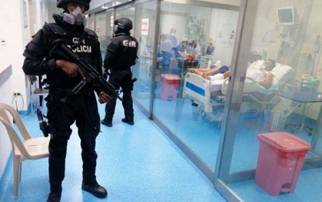 Desde el Hospital Abel Gilbert, en el suburbio de Guayaquil, Salcedo dio su versión.