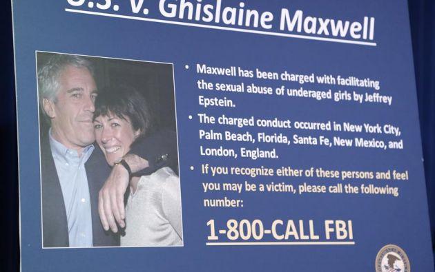 Ghislaine Maxwell es acusada de ayudar a su amigo Jeffrey Epstein en una trama de abuso sexual de menores. Foto: EFE.