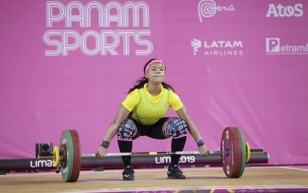 Neisi Dajomes ganó en la categoría de 76 kilogramos. Foto: @DeporteEc