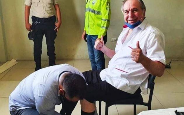 """""""A Bucaram no le van a poner un bozal"""", exclamó el exmandatario en declaraciones a medios."""