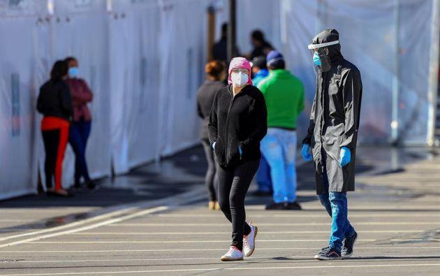 """El 3 de junio, Quito pasó del color """"rojo"""" al """"amarillo"""" en la desescalada, aunque en las últimas semanas ha registrado un incremento del número de contagios. Foto: EFE"""