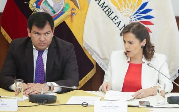 María Paula Romo y César Litardo deben comparecer a Fiscalía el viernes 24 de julio.