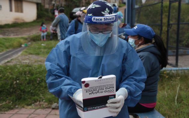 En Quito, el MSP movilizó sus brigadas para identificar posibles casos COVID-19. / MSP