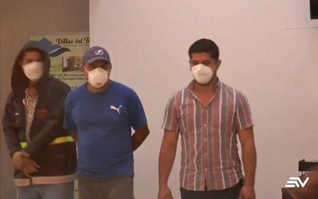 Los procesados fueron trasladados a Quito desde la cárcel El Rodeo, en Manabí.  Foto tomada de Ecuavisa.