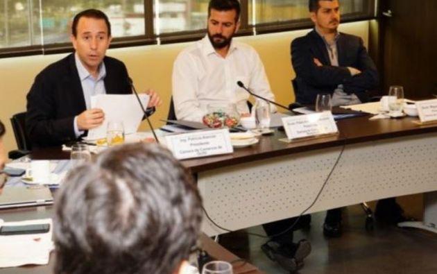 Foto: Twitter de Patricio Alarcon, Presidente de La Cámara de Comercio de Quito.