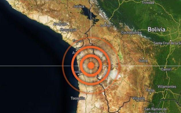 El evento natural se produjo a 115 kilómetros de Iquique, en el norte de Chile.
