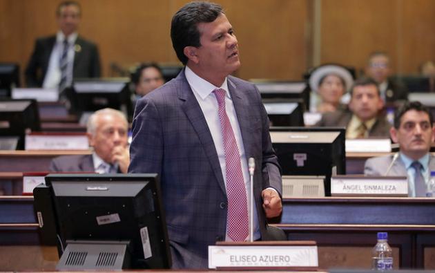 El asambleísta se encuentra prófugo, pero envió al CAL un oficio para defender su cargo. Foto: Asamblea Nacional.