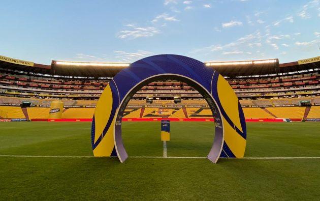 El partido se jugó en el Estadio Monumental de Barcelona SC, sin público, como rige el protocolo de retorno a las canchas para el fútbol ecuatoriano.