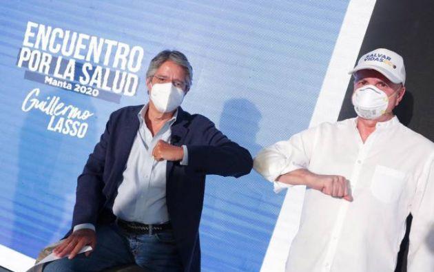 """El binomio presidencial de CREO estará compuesto por Guillermo Lasso y Alfredo Borrero, uno de los principales coordinadores en la misión médica y humanitaria """"Salvar Vidas"""" que promovió Lasso durante la emergencia sanitaria."""