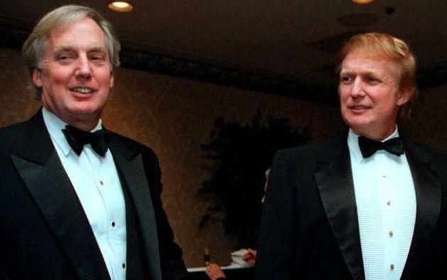 """Robert Trump (izquierda) era el último de los cinco hermanos. Junto a Donald tuvieron una gran relación, que se cortó por años, hasta que se postuló para presidente. Desde ahí lo apoyó y se reunieron hasta el punto que Donald lo consideraba """"su mejor amigo""""."""