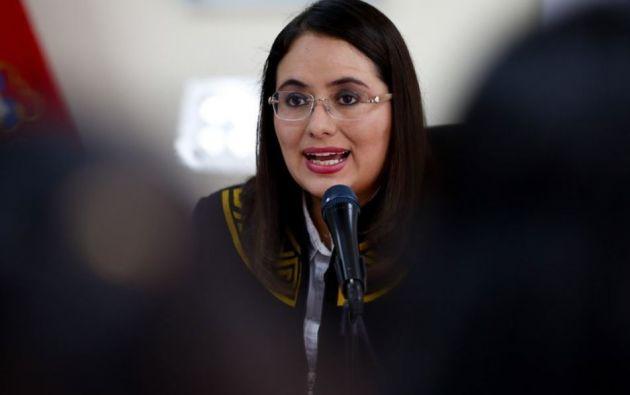 Gerente General del Banco Central de Ecuador, Verónica Artola. Foto: EFE.