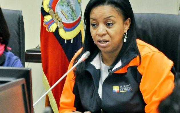 Alexandra Ocles, exsecretaria Nacional de Gestión de Riesgos.