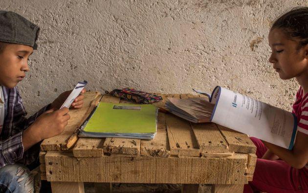 La premisa principal de la educación en emergencia es que su continuidad permite que los niños y sus familias tengan un mayor sentido de normalidad. Foto: UNICEF.