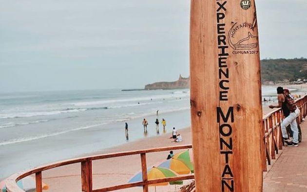 La playa de la comuna Montañita es una de las que abrirá a partir de hoy.