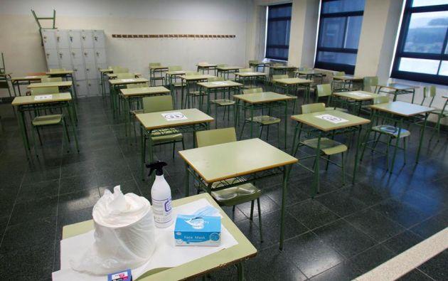 Según la OMS, las escuelas no juegan un papel central en la transmisión del coronavirus. Foto: EFE.