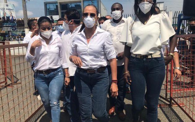 Pierina Correa, hermana del expresidente Correa, estuvo en el acto.