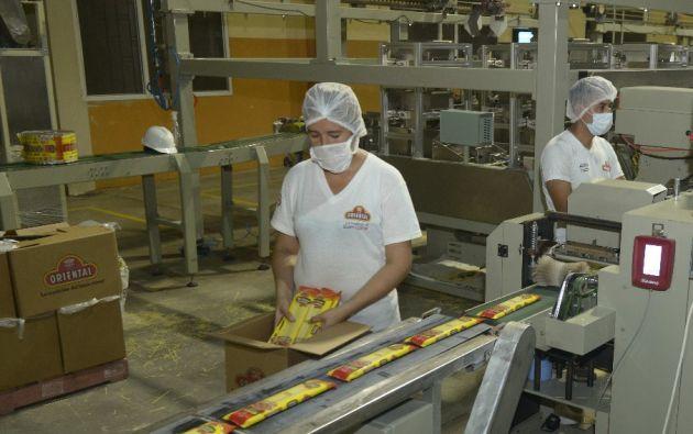 La Oriental Industria Alimenticia ha exportado a más de 12 países en América, Asia y Europa y a través de una nueva inversión prevé abrir nuevas plazas de trabajo. Foto: Vistazo