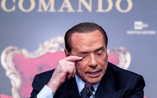 Berlusconi dio positivo en coronavirus el pasado 2 de septiembre tras someterse a una prueba en Italia. Foto: EFE