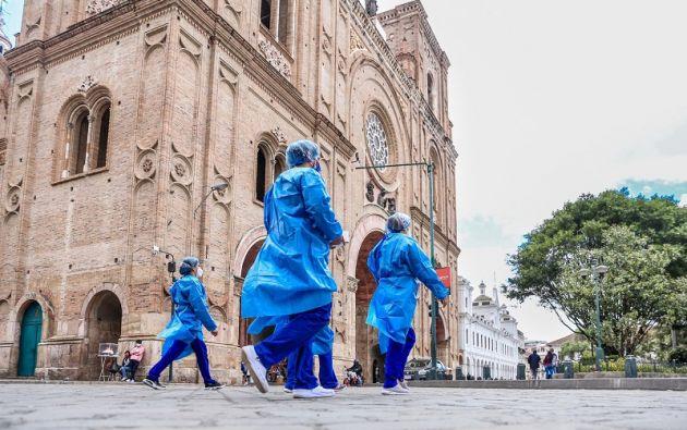 Los médicos ya están en las calles de Cuenca realizando pruebas rápidas y haciendo seguimiento epidemiológico del Covid-19.