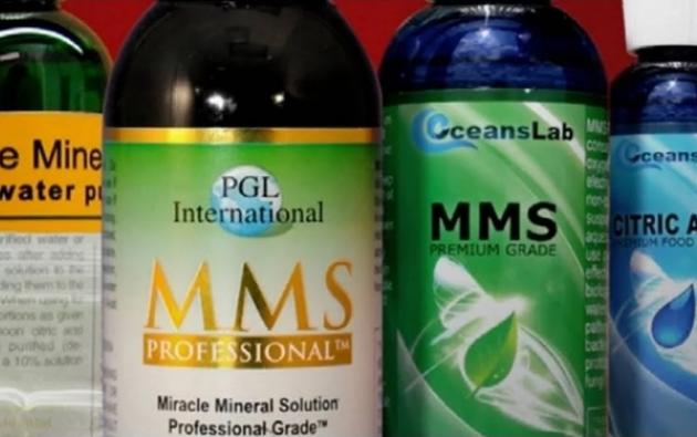 Frascos de la Solución Mineral Milagrosa. Foto: DDS