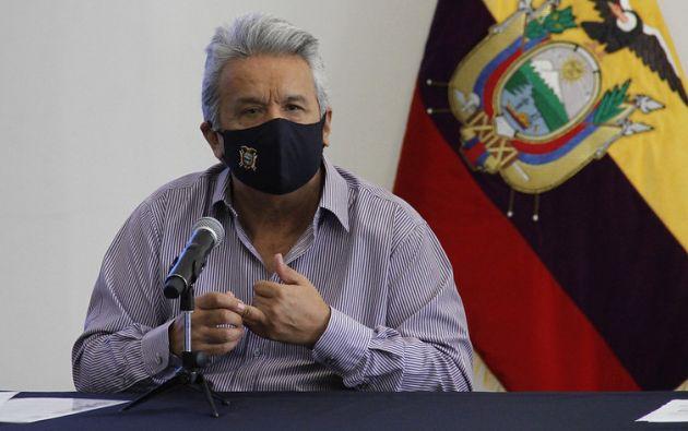 """Moreno enfatizó que, en octubre de 2019, la ministra Romo estuvo """"del lado de la democracia y la estabilidad"""". Foto: Presidencia"""