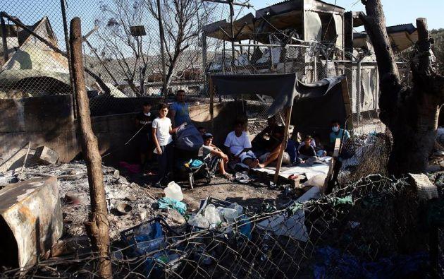 Cerca de 13.000 personas componen la población total de este campo de refugiados. Foto: EFE.