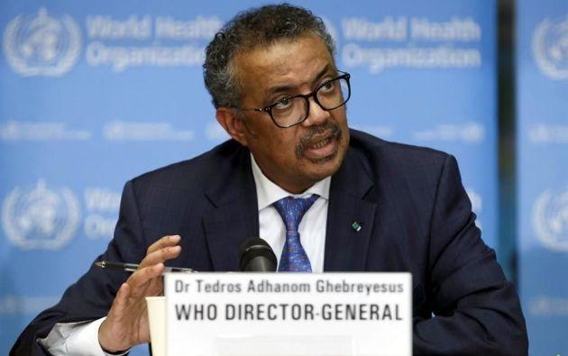 El director de la OMS , Tedros Adhanom Ghebreyesus. Foto: EFE