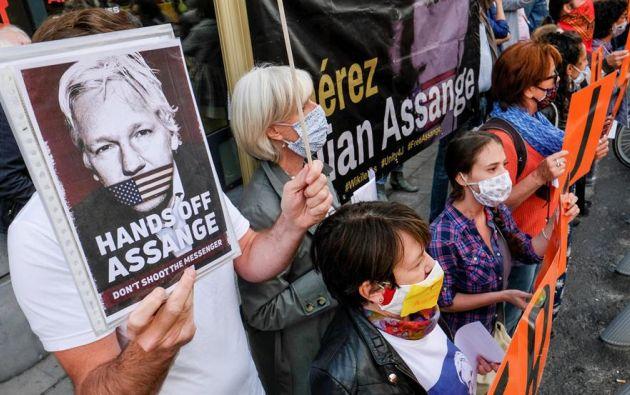 """La salud de Assange es muy """"frágil"""" según su abogado. Foto: EFE."""