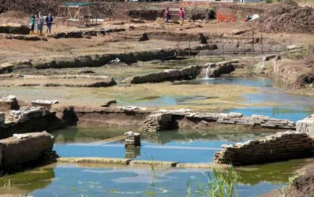 Este nuevo hallazgo es parte de la investigación sobre el yacimiento se encontró en junio de 2019 en Malafede, cerca de Roma. Foto: EFE