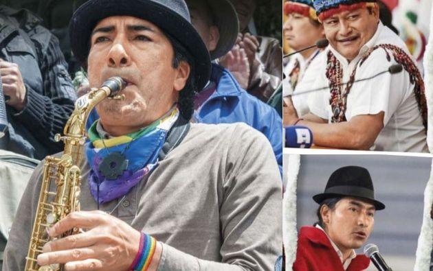 Yaku Pérez; Jaime Vargas, fue una de las cabezas visibles de las protestas de octubre 2019. Como líder de Conaie, tenía intenciones presidenciales; y Leonidas Iza, A. Pertenece a un ala radical del movimiento indígena. Su nombre destacó tras las protestas de octubre.