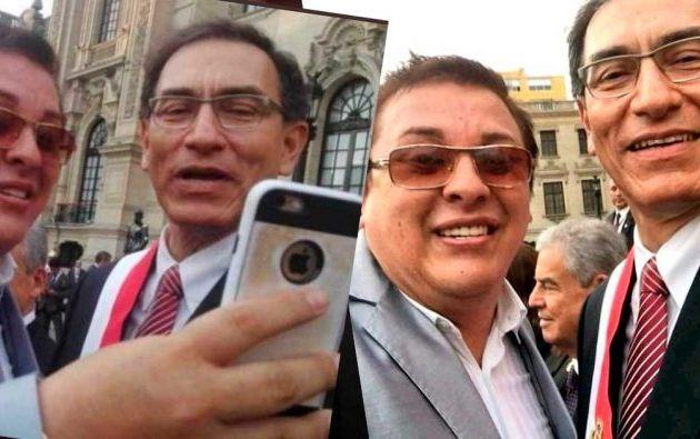 Vizcarra admitió en una conferencia de prensa previa al interrogatorio que conoció a Cisneros en la campaña electoral.