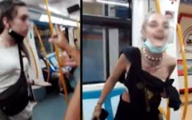 Un pasajero grabó la agresión en un video en el que se ve a las arrestadas lanzando insultos.
