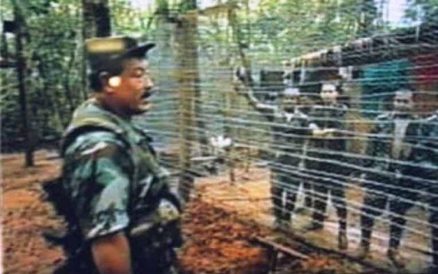 Imagen de archivo de los campos en donde la FARC mantenía a sus rehenes en la selva.