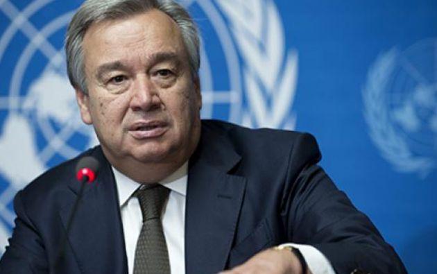 Guterres hizo un llamado para retomar la paz en medio de la pandemia que golpea al mundo. Foto: EFE.
