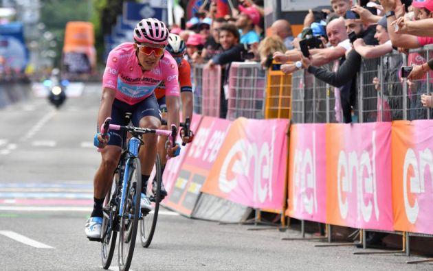 El ecuatoriano Richard Carapaz, fue el ganador del Giro de Italia en el 2019. Foto: EFE