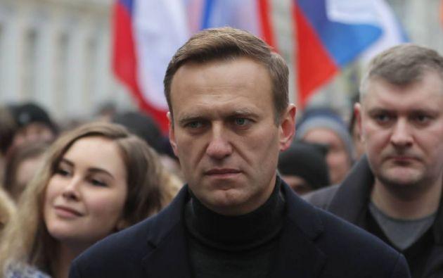 Alexéi Navalni en una manifestación. Foto: EFE