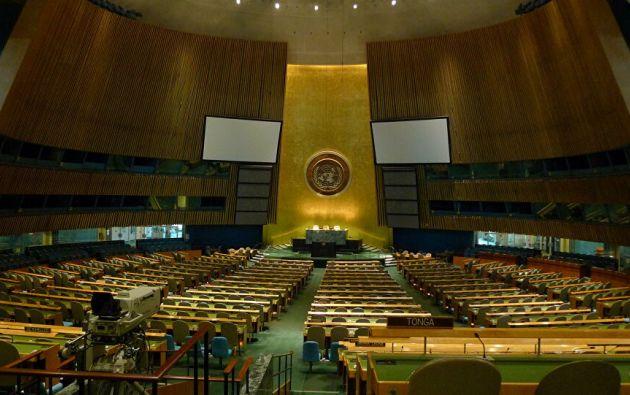La Asamblea General fue virtual por primera vez en su historia, debido a la pandemia por covid-19. Foto: Naciones Unidas
