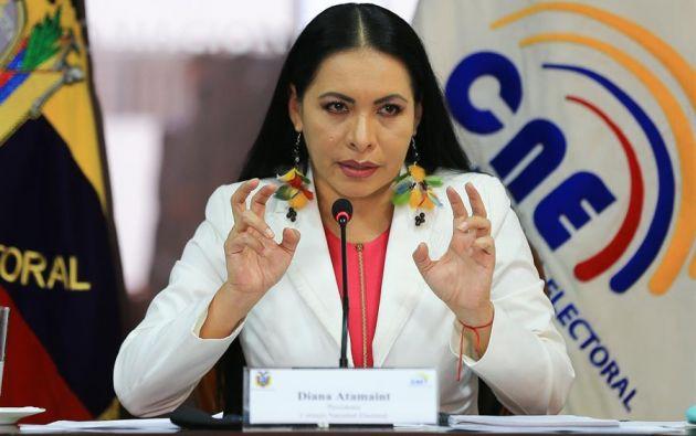 """Diana Atamaint dijo que la decisión se basará en informes jurídicos, con """"total apego a la ley y a la Constitución"""". Foto: EFE"""