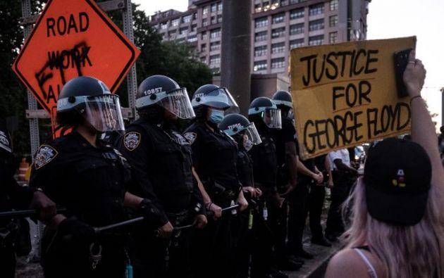 Protesta en Washington, Estados Unidos  por la muerte de George Floyd.  Foto:EFE