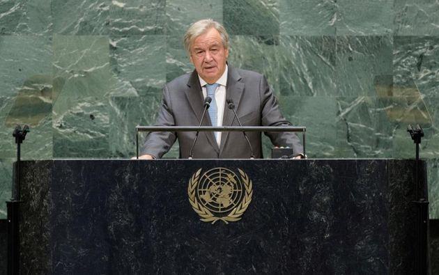 """""""El populismo y el nacionalismo han fracasado. Usados como enfoques para contener el virus, muchas veces han llevado a un empeoramiento palpable"""", dijo Guterres. Foto: EFE"""