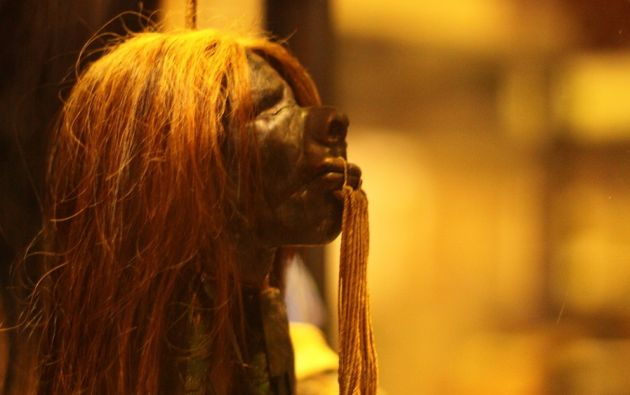 Las tsantsas Shuar eran hechas por tribus indígenas que habitan en la cuenca amazónica de Perú y Ecuador. Foto: Museo Pitt Rivers.