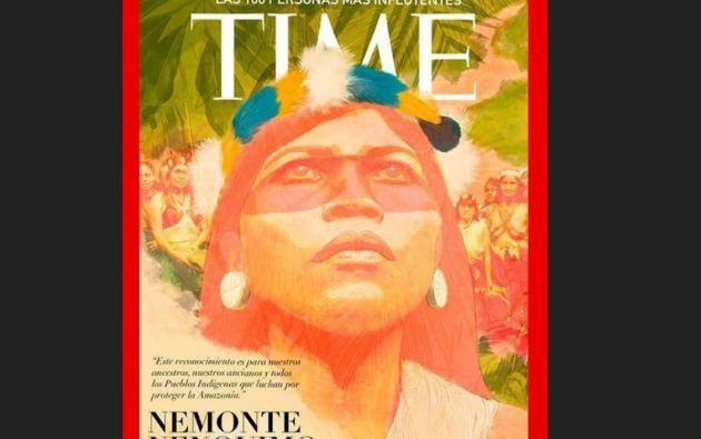 """""""Siento y creo que este es un reconocimiento a la #ResistenciaWaorani que ha mantenido nuestra selva libre de explotación irresponsable de recursos"""", dijo la representante indígena sobre su designación."""